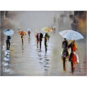 Ren-Wil Rawhide Rain by Giovanni Russo Original Painting on Canvas