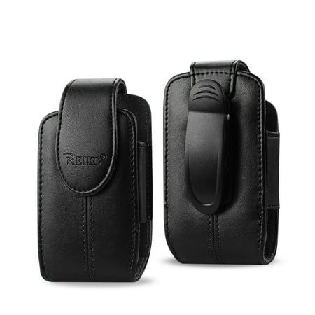 Black Leather Vertical Case with Pinch Clip fits Cingular flip and Cingular Flip 2 phone