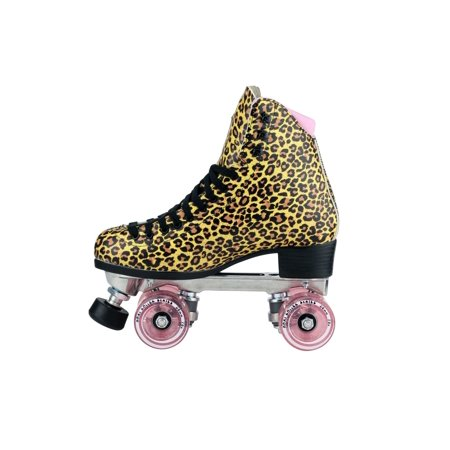Riedell Carrera Speed Skates (Riedell Quad Roller Skates - Jungle Leopard )