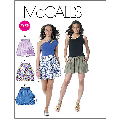McCall's Pattern Misses' Skirts, E5 (14, 16, 18, 20, 22)