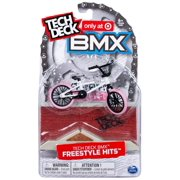 Tech Deck BMX Freestyle Hits - Finger Bike with Freestyle Obstacle - Cult Bikes - White/Pink