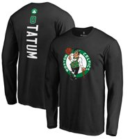Jayson Tatum Boston Celtics Fanatics Branded Team Backer Name & Number Long Sleeve T-Shirt - Black