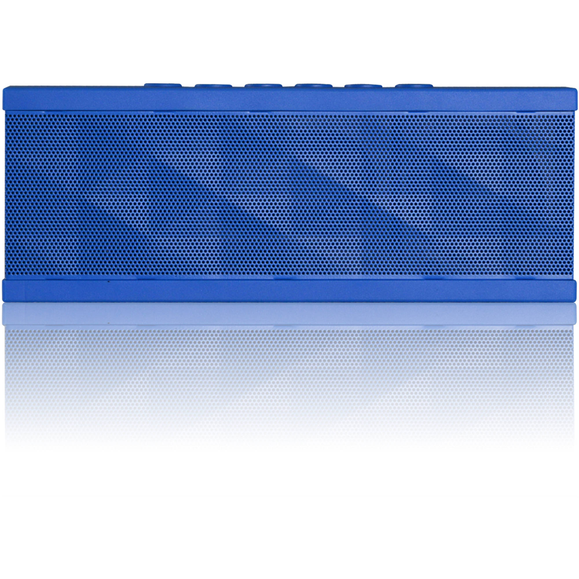 SoundBot SB571 Bluetooth Wireless Portable Speaker for 12-Hour Music Streaming & Hands-Free Calling, Blue on Blue