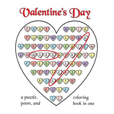 Valentine's Day Word Search : A Puzzle, Poem, and Coloring Book in One](Valentines Coloring)