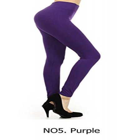 NEW Various Fashion Women's Sexy Stretchy Skinny Cotton High Waist Leggings Pants - Yoga Pants L1000: Purple