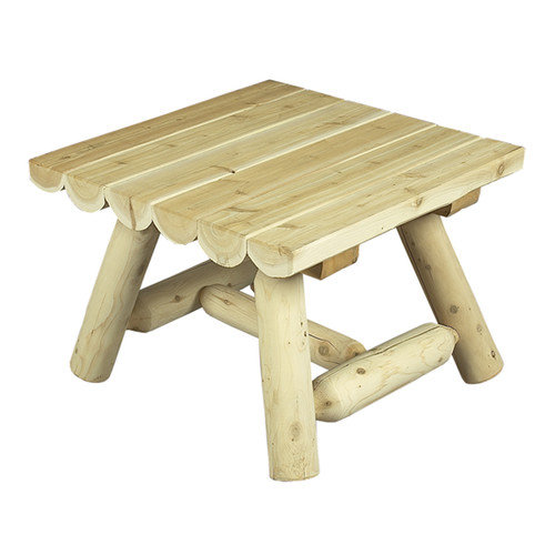 Rustic Natural Cedar Furniture Square Outdoor Coffee Table