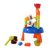 Nomeni Children Summer Beach Toy Large Baby Play Water Windmill Digging Sandglass Tool