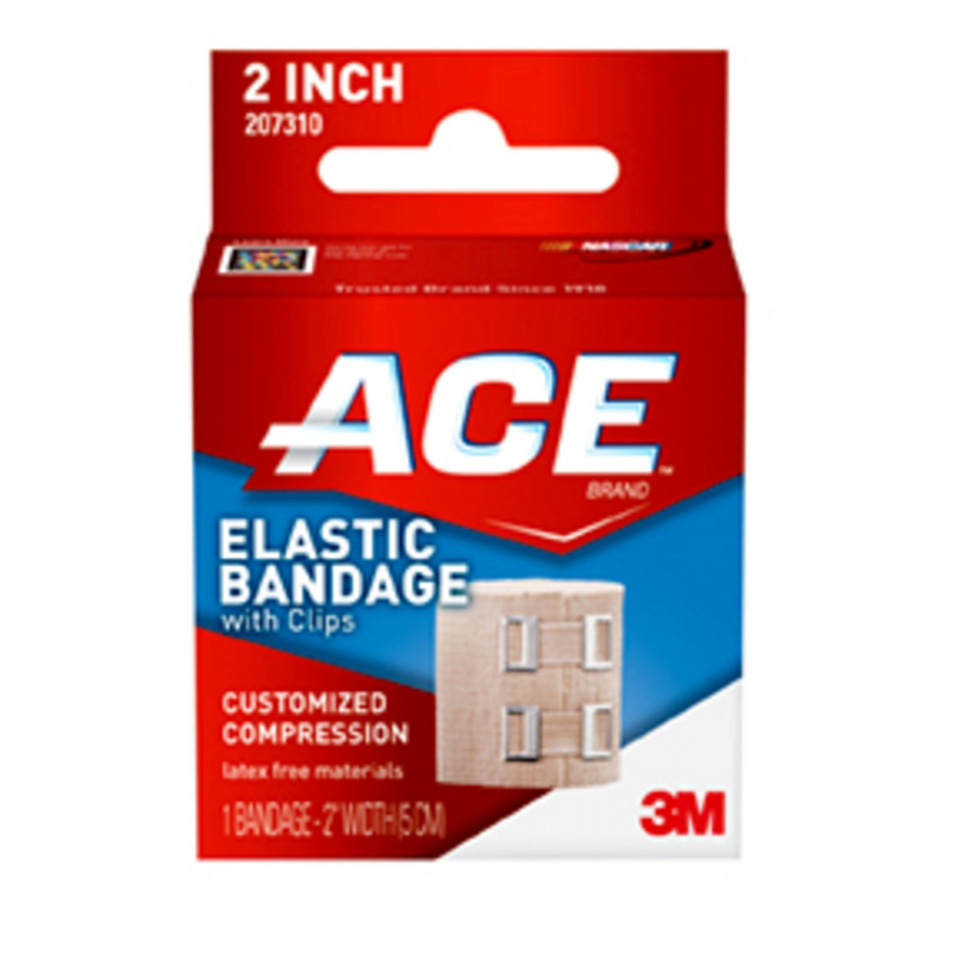 ACE Brand Elastic Bandage with Clips, 2 in., Beige, 1/Pack