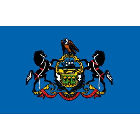 Nylon Eyelet - Pennsylvania Flag with Grommets 3ft x 5ft