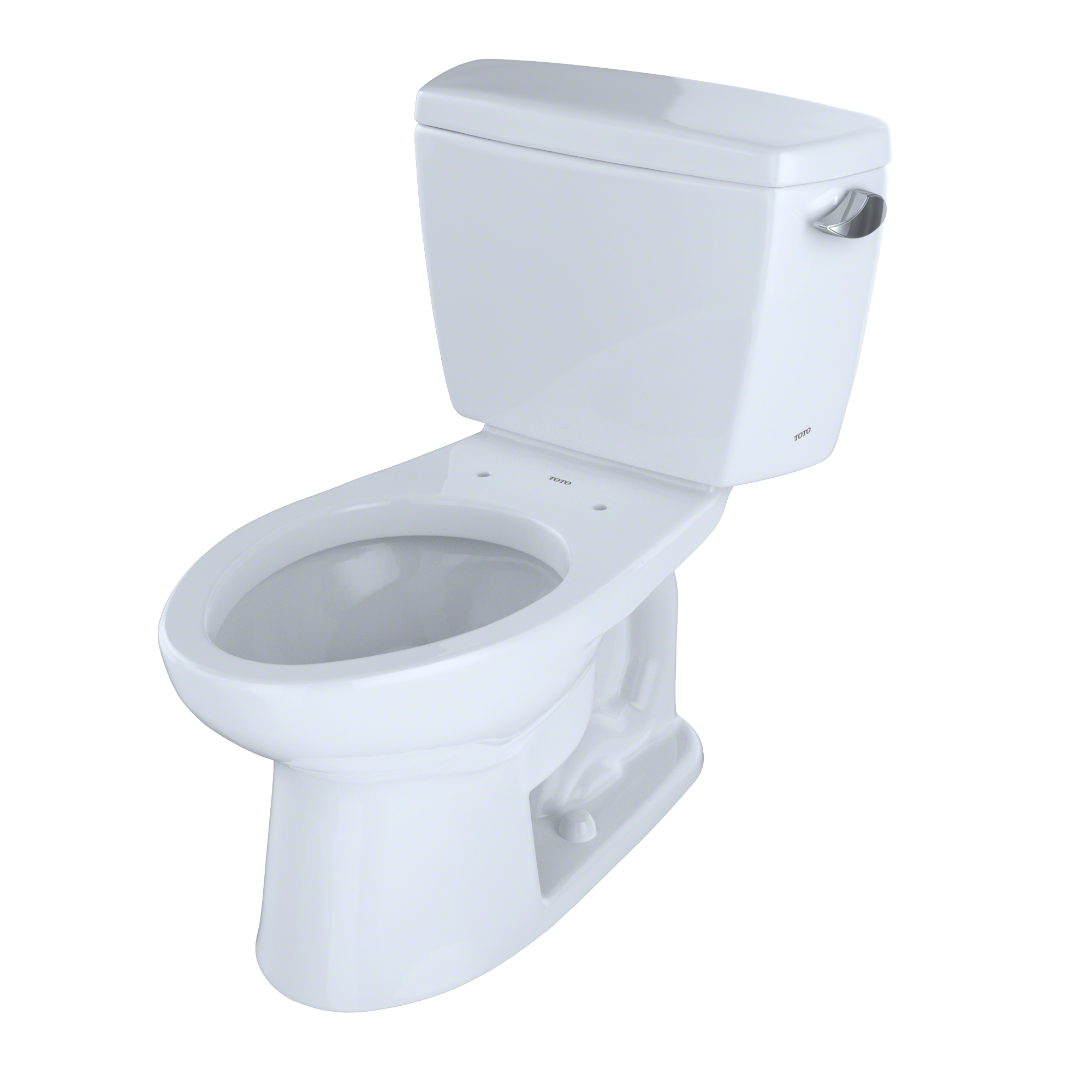 TOTO® Drake® Two-Piece Elongated 1.6 GPF ADA Compliant Toilet with Right-Hand Trip Lever, Cotton White - CST744SLR#01