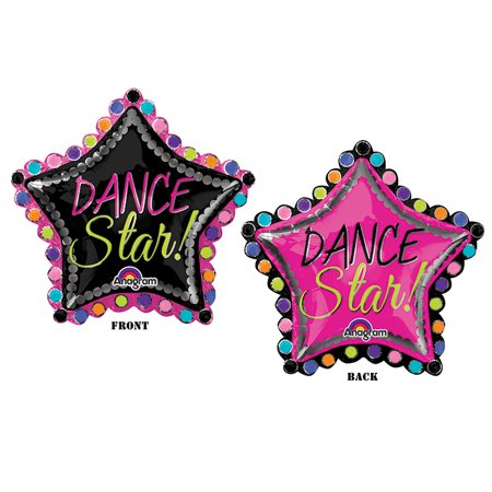 "Dance Star Mylar Balloon Party XL 30"" Super Shape Mylar Foil Decoration"
