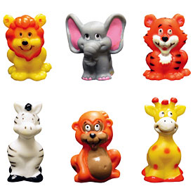 6 ct Jungle Animal Finger Puppets Cake Adornments (2 inches)