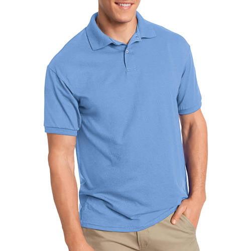 Hanes Men's EcoSmart Short Sleeve Jersey Polo Shirt