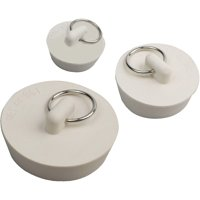 "Peerless Assorted Rubber Sink Stoppers, 3pk. Compatible with 1-1/2"", 1-1/4"" and 1"" drains."