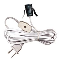 National Artcraft Lamp Cord Set With Clip-In Socket, Switch And Plug - 6 Ft. Heavy-Duty