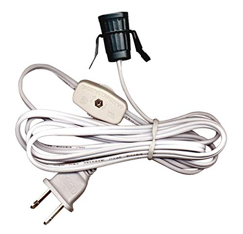 6 Foot with On//Off Switch Wholesale Pack of 10 Cords Brown Clip-In Lamp Cords