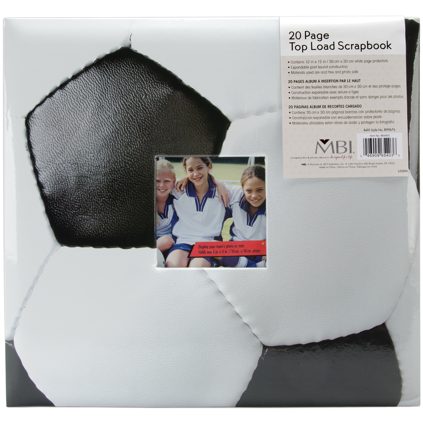 "Mbi Sport & Hobby Post Bound Album W/Window 12""X12"" - image 1 de 1"