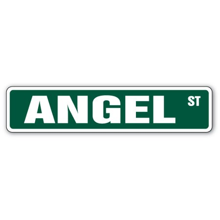 Wide Angle Quartz Light (ANGEL Street Sign Childrens Name Room Sign | Indoor/Outdoor |  24