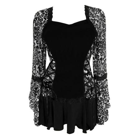 Dare To Wear Victorian Gothic Boho Women's Plus Size Bolero Corset Top S - 5x (Swindon Wildcats Halloween)