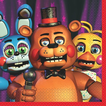 Five Nights at Freddy's Party Napkins, 2-Pack (16 Napkins)
