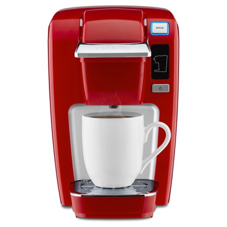 Keurig K-Mini K15 Single-Serve K-Cup Pod Coffee Maker, Chili Red