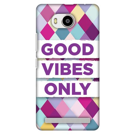 Lenovo A7700 Case, Premium Handcrafted Designer Hard Shell Snap On Case Printed Back Cover with Screen Cleaning Kit for Lenovo A7700, Slim, Protective - Good Vibes Only