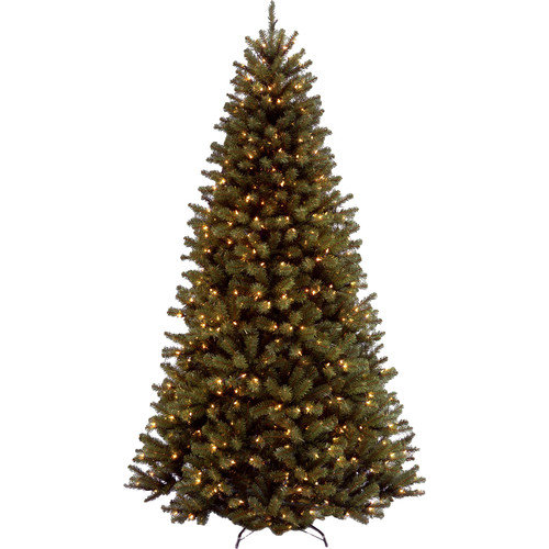 National Tree Co. 9' North Valley Spruce Artificial Christmas Tree with 700 Clear Lights