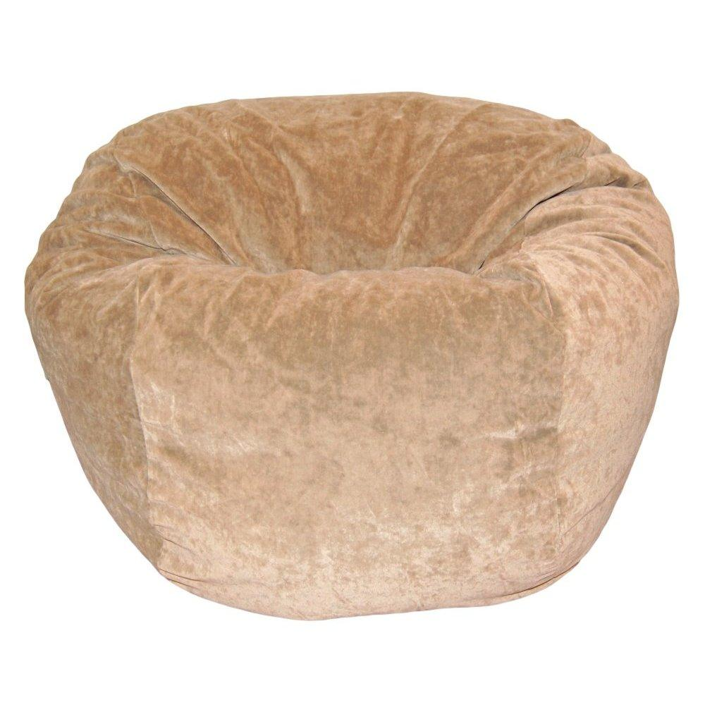 ahh! products microsuede velvet tan washable kid bean bag chair