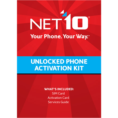 Net10 T-Mobile Compatible Standard and Micro SIM Activation Kit