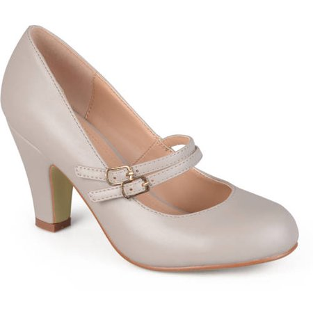 Women's Matte Finish Classic Mary Jane Pumps