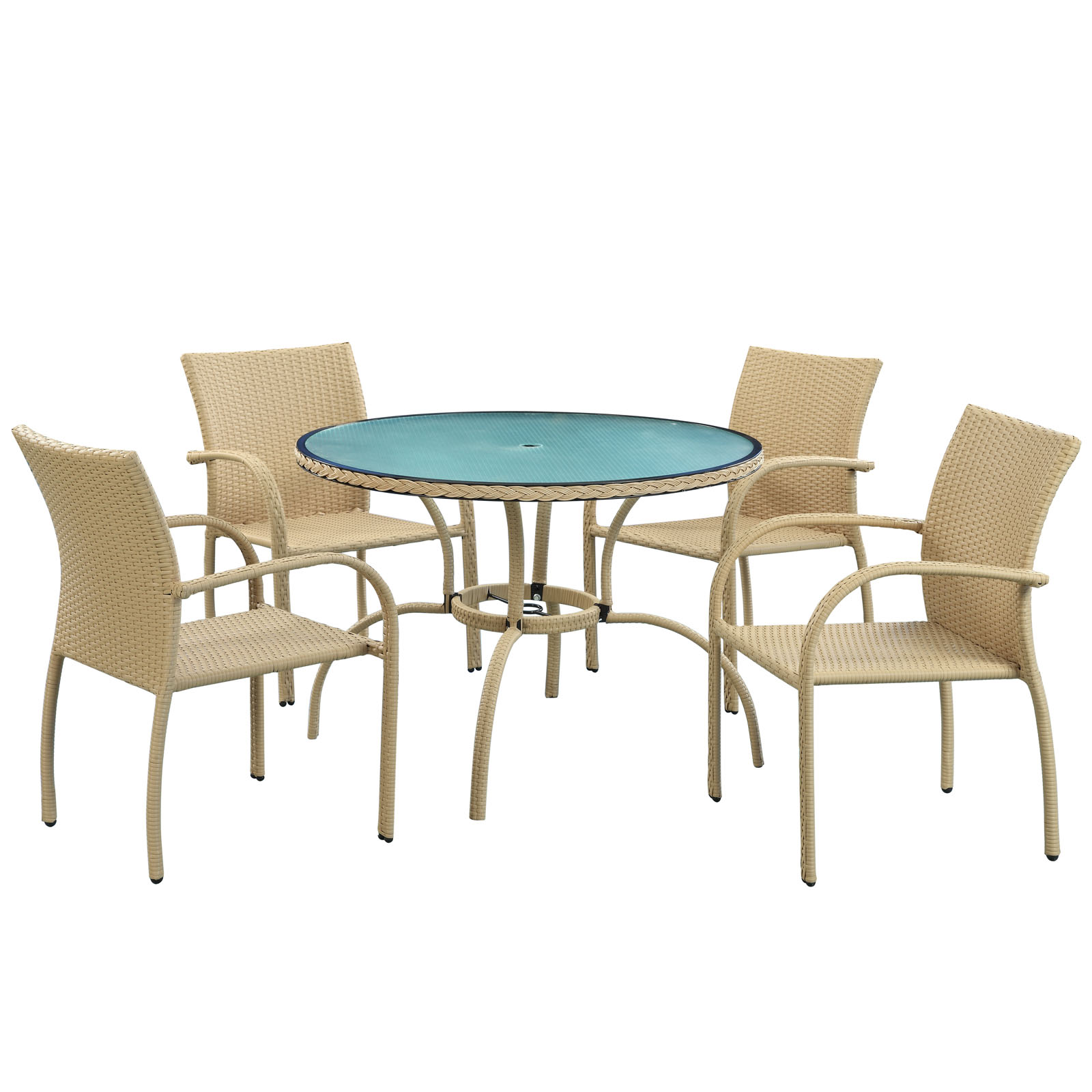 Circulo All-Weather Wicker Patio Dining Set