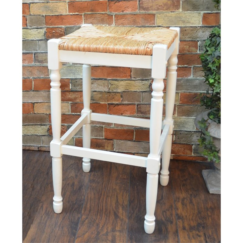 "Carolina Classics Frederick 29"" Bar stool in White"