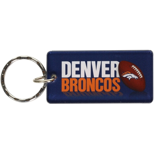 Denver Broncos Printed Acrylic Keychain - No Size