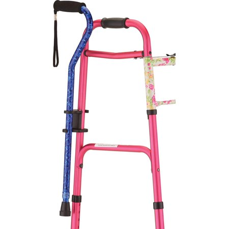 NOVA Medical Cane Holder for Rollator and Folding Walker, Walking Cane Attachment for Walker, Snap-On Design, SNAPS ON IN SECONDS with no.., By NOVA Medical Products - Canes For Sale
