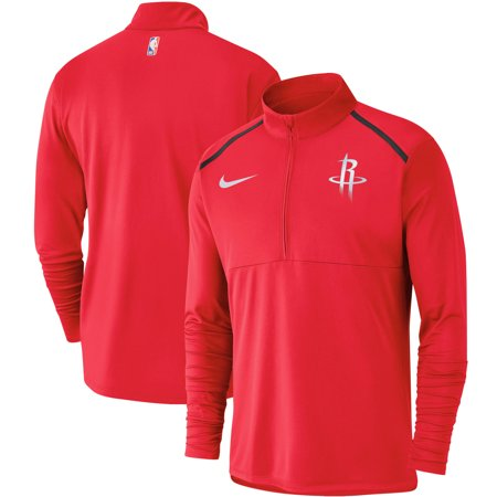 - Houston Rockets Nike Element Performance Half-Zip Pullover Jacket - Red