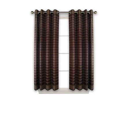 Versailles' Bamboo Wood Curtain Panel With Grommets (42in x 63in) ()