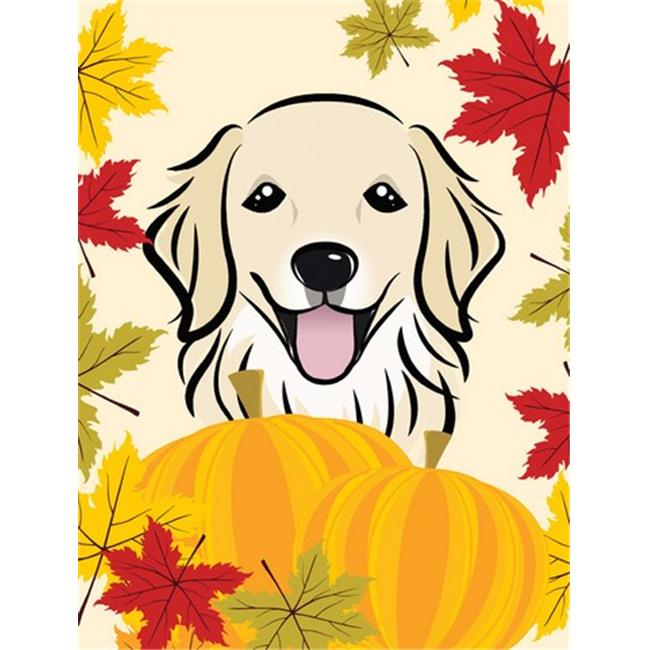 Golden Retriever Thanksgiving Flag Garden