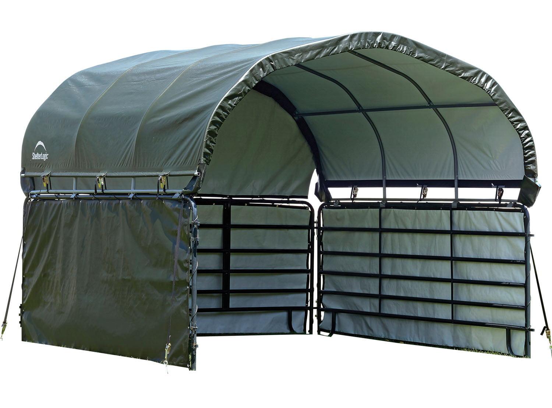 Enclosure Kit for Corral Shelter 12 x 12 ft. Green by SHELTERLOGIC