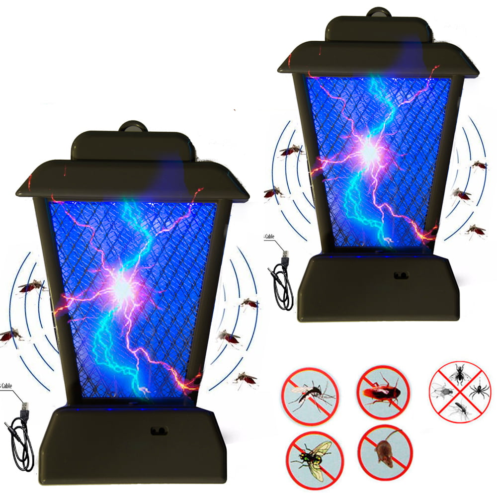 2Pc Uv Light Bug Zapper Insect Controller Mosquito Fly Pest Bug Trap Lamp Killer by SONA ENTERPRISES