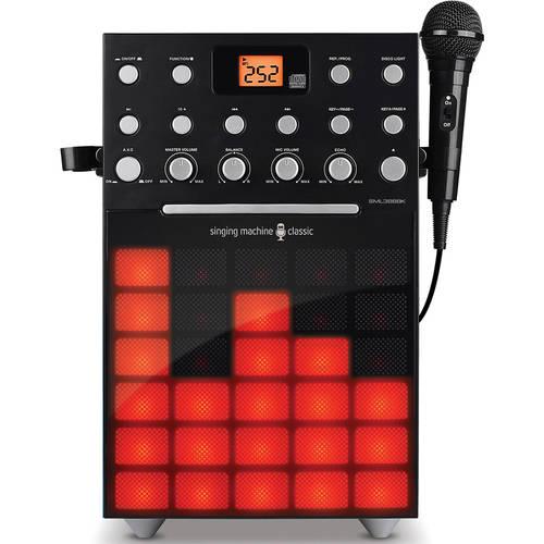 Singing Machine SML388BK Karaoke Machine with Music Synchronizing Light Show and... by The Singing Machine