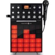 Singing Machine SML388BK Karaoke Machine with Music Synchronizing Light Show and Microphone