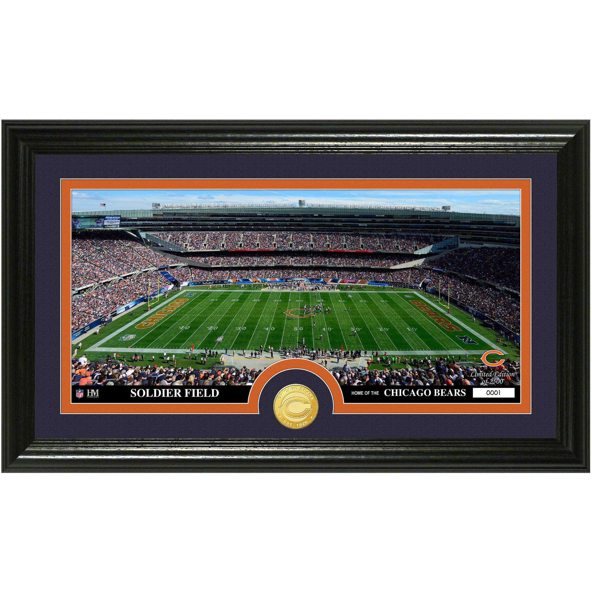 The Highland Mint NFL Stadium Bronze Coin Panoramic Photo Mint, Chicago Bears