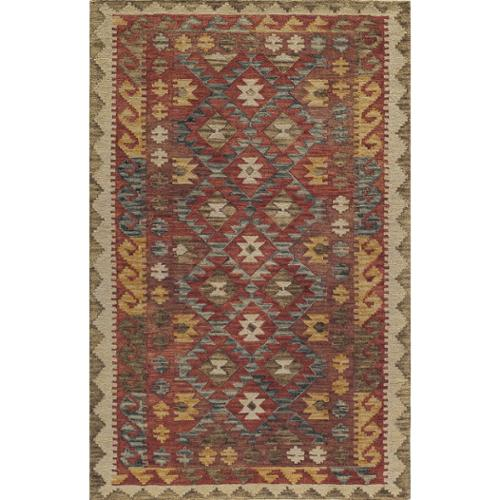 Soho Rugs Kasbah Meshed Red Hand-Tufted Wool Rug (7'6 x 9'6)