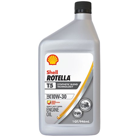 shell rotella t5 10w 30 synthetic blend motor oil 1 qt