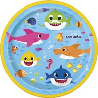 Baby Shark 7 Inch Plates [8 Per Package]