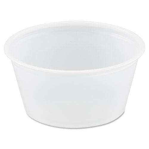 Solo B200N0100 Polystyrene Portion Cups, 2oz, Translucent, 250/Bag, 10 Bags/Carton
