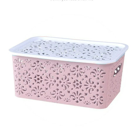 NEW HOT Storage Basket Box Bin Container Organizer Clothes Laundry Plastic (have