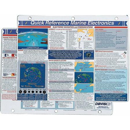 Davis 129 Marine Electronics Quick Reference Card