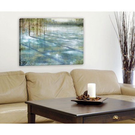 Portfolio canvas decor water trees large framed printed canvas wall art
