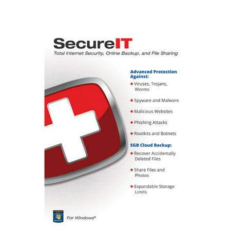 Security Coverage SECUREIT5GB SecureIT Total Internet Security + 5GB Cloud (Best Cloud Backup Plans)